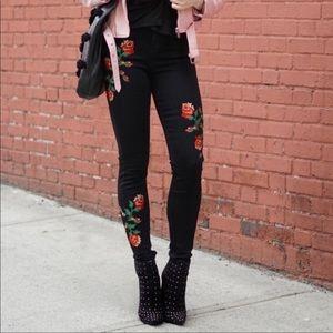 Topshop Moto Floral Jamie Rose Ankle Skinny Jeans